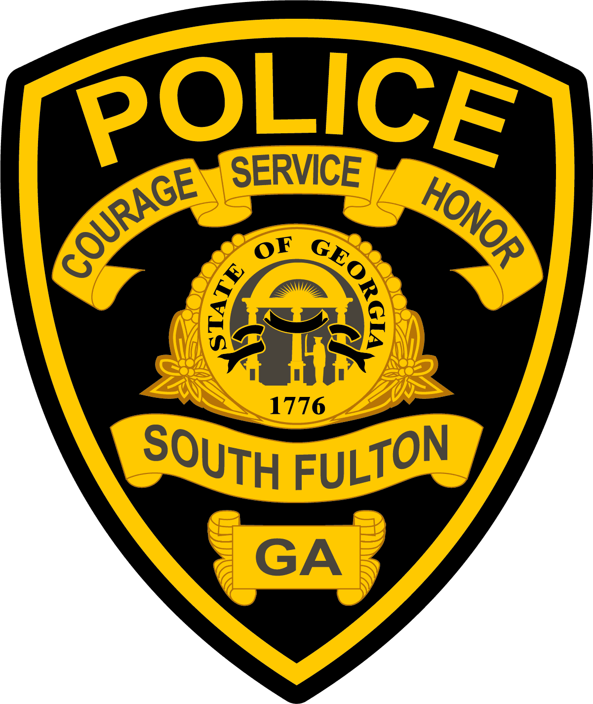 South Fulton Police Department GA Shoulder Patch V3 Georgia AR