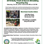 2018 Recycling Day Flyer -Oct 20th 2018-final